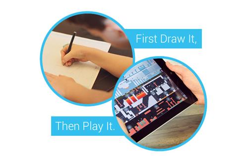 Pixel Press Floorsでは、鉛筆で紙に描いたものがそのままゲームになる